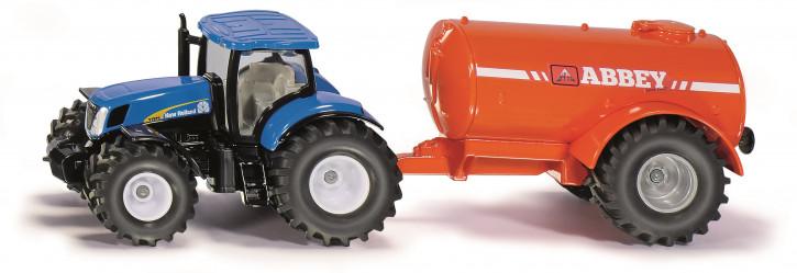 Traktor New Holland mit Ein-Achs-Güllefass M 1:50