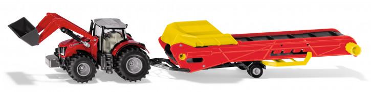 Massey Ferguson Traktor mit Förderband M 1:50