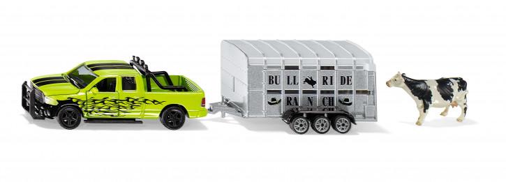 RAM 1500 mit Viechanhänger M 1:50