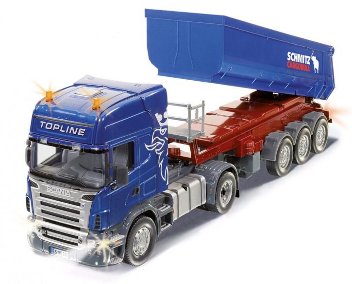 Scania Zugmaschine mit Kippsattelauflieger Set  M 1:32