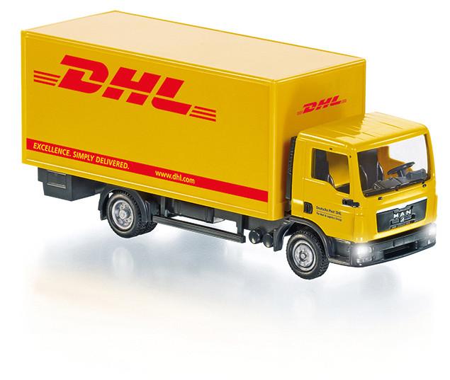 """Koffer-LKW MAN TGL """"DHL"""" Control87 in OVP"""