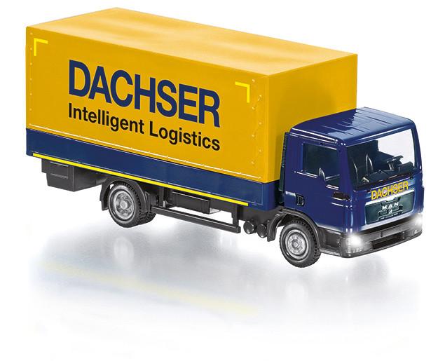 """Pritschen-LKW MAN TGL """"Dachser"""" Control87 in OVP"""